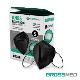 KN95 Respirador Contra Partículas (Negro) - Caja x 10 Unds - GROSSMED
