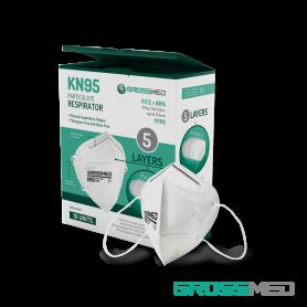KN95 Respirador Contra Partículas (Blanco) - Caja x 10 Unds - GROSSMED